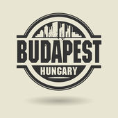 Stamp or label with text Budapest, Hungary inside — Stock Vector
