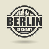 Stamp or label with text Berlin, Germany inside — Stockvektor