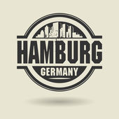 Stamp or label with text Hamburg, Germany inside — Stock Vector
