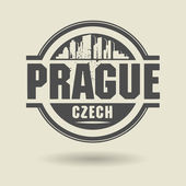 Stamp or label with text Prague, Czech Republic inside — Stock Vector