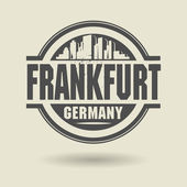 Stamp or label with text Frankfurt, Germany inside — Stock Vector