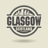 Stamp or label with text Glasgow, Scotland inside — Stock Vector