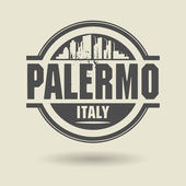Stamp or label with text Palermo, Italy inside — Stock Vector