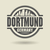 Stamp or label with text Dortmund, Germany inside — Stock Vector