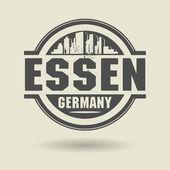 Stempel oder aufkleber mit text essen, deutschland innerhalb — Stockvektor