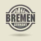 Stamp or label with text Bremen, Germany inside — Stok Vektör