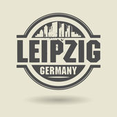 Stamp or label with text Leipzig, Germany inside — Stock Vector