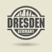 Stamp or label with text Dresden, Germany inside — Stock Vector