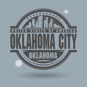 Stamp or label with text Oklahoma City, Oklahoma inside — Vector de stock