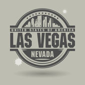 Stamp or label with text Las Vegas, Nevada inside — Stock Vector