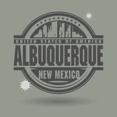 Stamp or label with text Albuquerque, New Mexico inside — Stock Vector