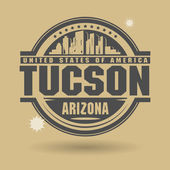 Stamp or label with text Tuscon, Arizona inside — Stock Vector