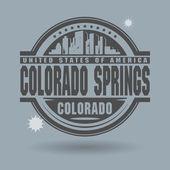 Stamp or label with text Colorado Springs, Colorado inside — Vector de stock