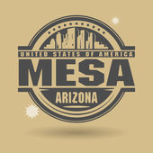 Stamp or label with text Mesa, Arizona inside — Stock Vector