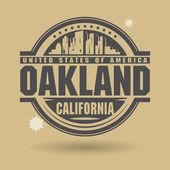 Stämpel eller etikett med text oakland, kalifornien inuti — Stockvektor