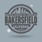 Stamp or label with text Bakersfield, California inside — Stock Vector