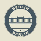 Stamp or label with word Berlin inside — Stock Vector