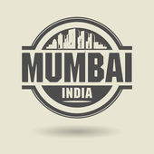 Stamp or label with text Mumbai, India inside — Stock Vector