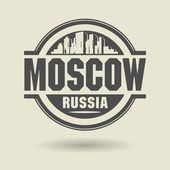 Stamp or label with text Moscow, Russia inside — Stock Vector