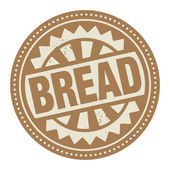 Abstract stamp or label with the text Bread written inside — Stock Vector