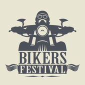 Stamp or label with the words Bikers Festival inside — Stock Vector