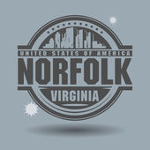 Stamp or label with text Norfolk, Virginia inside — Stock vektor