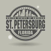 Stamp or label with text St. Petersburg, Florida inside — Stock Vector