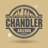 BStamp or label with text Chandler, Arizona inside — Cтоковый вектор