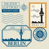 Штамп с слово Берлин внутри — Cтоковый вектор