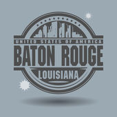 Stamp or label with text Baton Rouge, Louisiana inside — Stock Vector