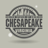 Stamp or label with text Chesapeake, Virginia inside — Stock Vector