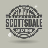 Stamp or label with text Scottsdale, Arizona inside — Stock Vector