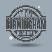 Stamp or label with text Birmingham, Alabama inside — Stock Vector