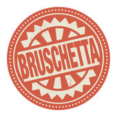 Abstract stamp or label with the text Bruschetta written inside — Stock Vector