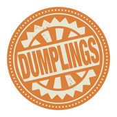 Abstract stamp or label with the text Dumplings written inside — Stock Vector