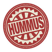 Abstract stamp or label with the text Hummus written inside — Stock Vector