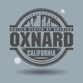 Stamp or label with text Oxnard, California inside — Stock Vector