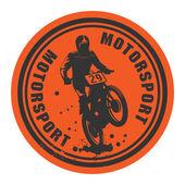 Motor sporları arka etiket — Stok Vektör