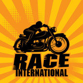 Abstract background with the words Race International inside — Stock Vector