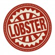 Abstract stamp or label with the text Lobster written inside — Stock Vector #45915131