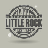 Stamp or label with text Little Rock, Arkansas inside — Wektor stockowy