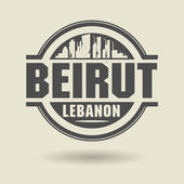 Stamp or label with text Beirut, Lebanon inside — Stock Vector