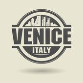 Estampille ou une étiquette avec le texte de venise, italie, à l'intérieur — Vecteur