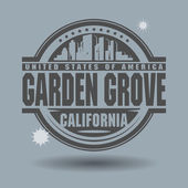 Stamp or label with text Garden Grove, California inside — ストックベクタ