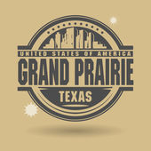 Stamp or label with text Grand Prairie, Texas inside — Stock Vector