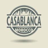 Штамп или метку с текстом Касабланка, Марокко внутри — Cтоковый вектор