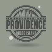 Stamp or label with text Providence, Rhode Island inside — Stock Vector