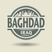 Stamp or label with text Baghdad, Iraq inside — Stock Vector