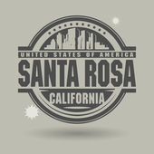 Stamp or label with text Santa Rosa, California inside — Stock Vector
