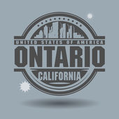 Stamp or label with text Ontario, California inside — Vetorial Stock
